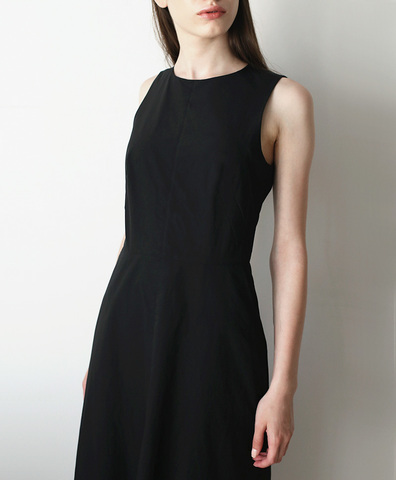 Платье длинное черный хлопок