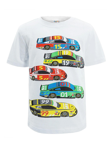 D002-40 футболка для мальчиков, белая