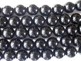 Нить бусин из кварца черного (мориона), шар гладкий 10 мм