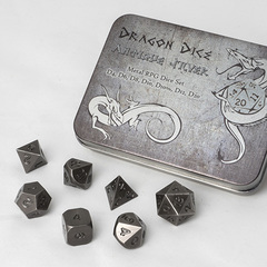 Blackfire Dice Dragon Dice Set Antique Silver