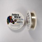 Проволока серебристая с медным сердечником Zebra Wire, 0,32 мм, посеребренная, 36 м