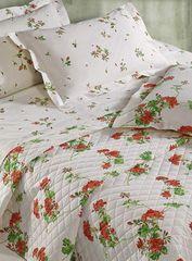 Постельное белье 2 спальное евро Mirabello Gerani оранжевое