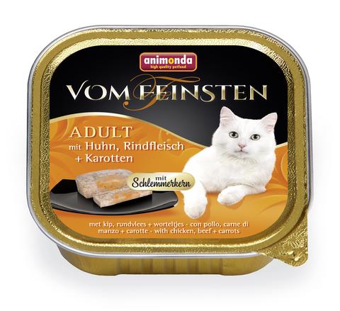 Консервы Animonda Vom Feinsten Adult Меню для гурманов с курицей, говядиной и морковью для взрослых привередливых кошек