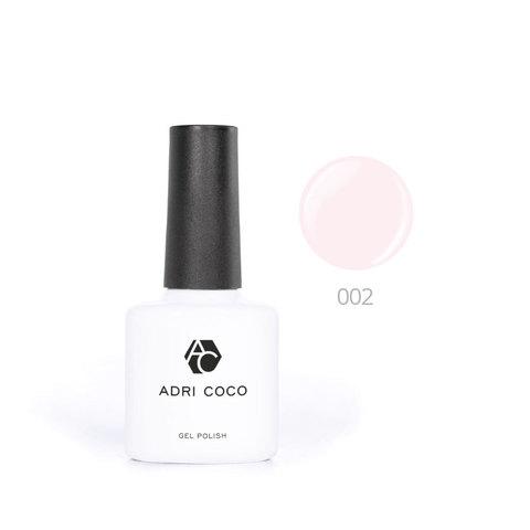 Цветной гель-лак ADRICOCO №002 нежно-розовый (8 мл.)
