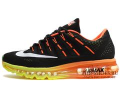 Кроссовки Мужские Nike Air Max 2016 Black Yellow Orange
