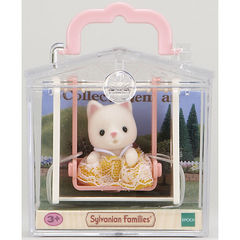 Набор «Игрушка младенец в пластиковом сундучке» кошка на качелях Sylvanian families 5201