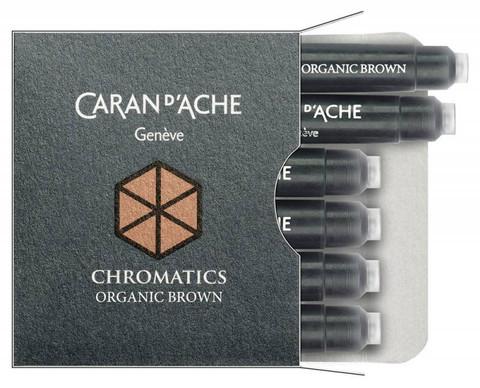 Carandache Чернила (картридж), коричневый, 6 шт в упаковке
