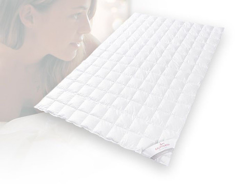 Одеяло пуховое очень лёгкое 180х200 Kauffmann Премиум Тенсел Сильвер Протекшн