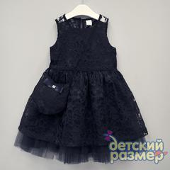 Платье 116-134 (сумочка, гипюр)