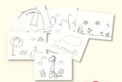 036-3345 Набор (6 шт.) открыток для пальчикового рисования