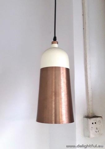 replica Innermost Glaze Pendant - Cream & Charcoal  ( tall )