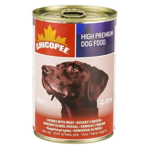 Chicopee Dog Chunks Meat консервы для собак всех пород и возрастов с кусочками говядины в соусе 1,23 кг