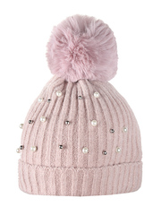 HT1811-1 шапка женская, светло-розовая
