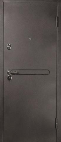 Дверь входная L-3 замок CISA стальная, лен белый, 2 замка, фабрика Арсенал