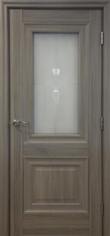 Дверь Profil Doors №28Х-Классика, стекло узор, цвет орех пекан, остекленная