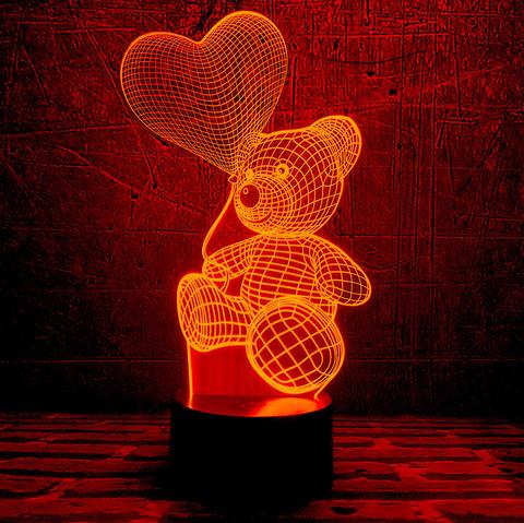 Светильник Медвежонок с шариком