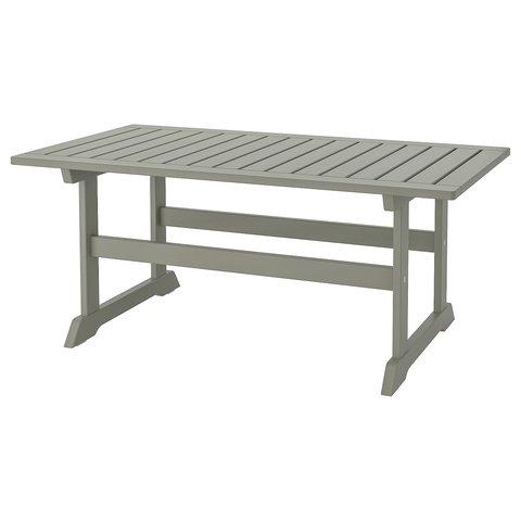 БОНДХОЛЬМЕН Садовый столик, серый морилка, 111x60 см