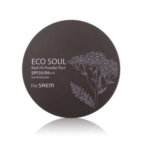 THE SAEM ECO SOUL Пудра компактная ECO SOUL Real Fit Powder - Natural Beige  15гр