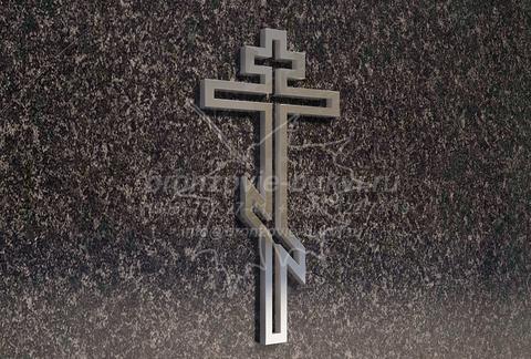 Контурный крестик на памятник из нержавейки