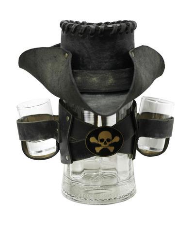 Сувенирная кружка Пират, черная