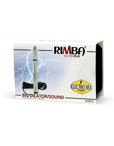 Широкий уретральный/вагинальный зонд,  Rimba - Electro Dildo/Sound, Bi-Polar (165 Mm)