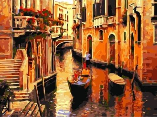 Картина раскраска по номерам 40x50 Венеция масляными ...