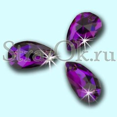 Стразы пришивные стеклянные Drope Purple Velvet, Капля Перпл Велвет глубокий фиолетовый