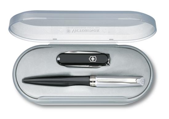 Набор Victorinox, нож Classic + ручка Caran d'Ache