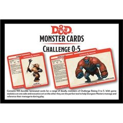 Monster Card Deck Levels 0-5