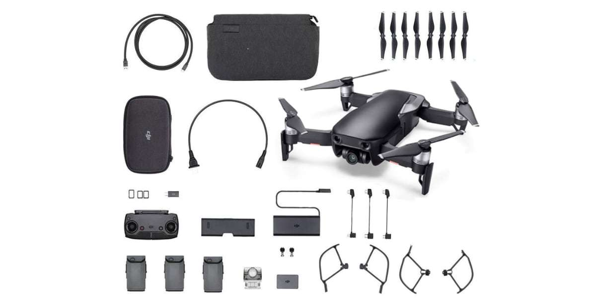 Квадрокоптер DJI MAVIC AIR Fly More Combo (EU) Onyx Black, черный комплект