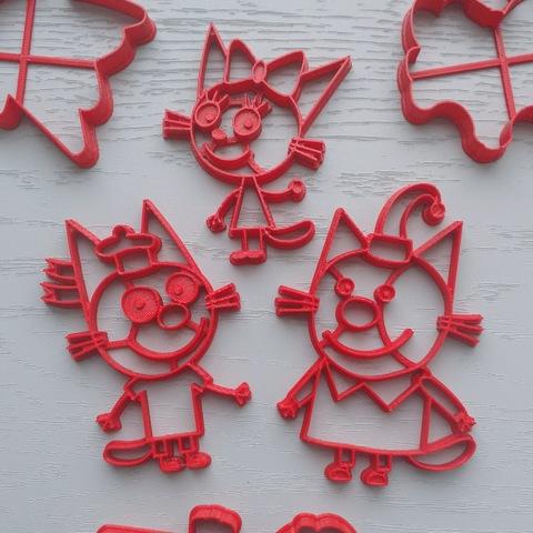 Набор форм Три кота для пряника
