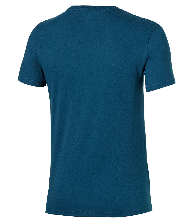 Мужская футболка с принтом Asics Camou Logo SS Top (131529 0053) синяя фото