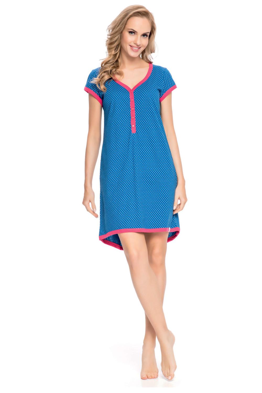 Синяя легкая сорочка (Сорочки из хлопка)