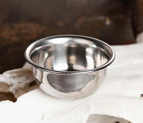 Чаша для бритья из стали с двойными стенками
