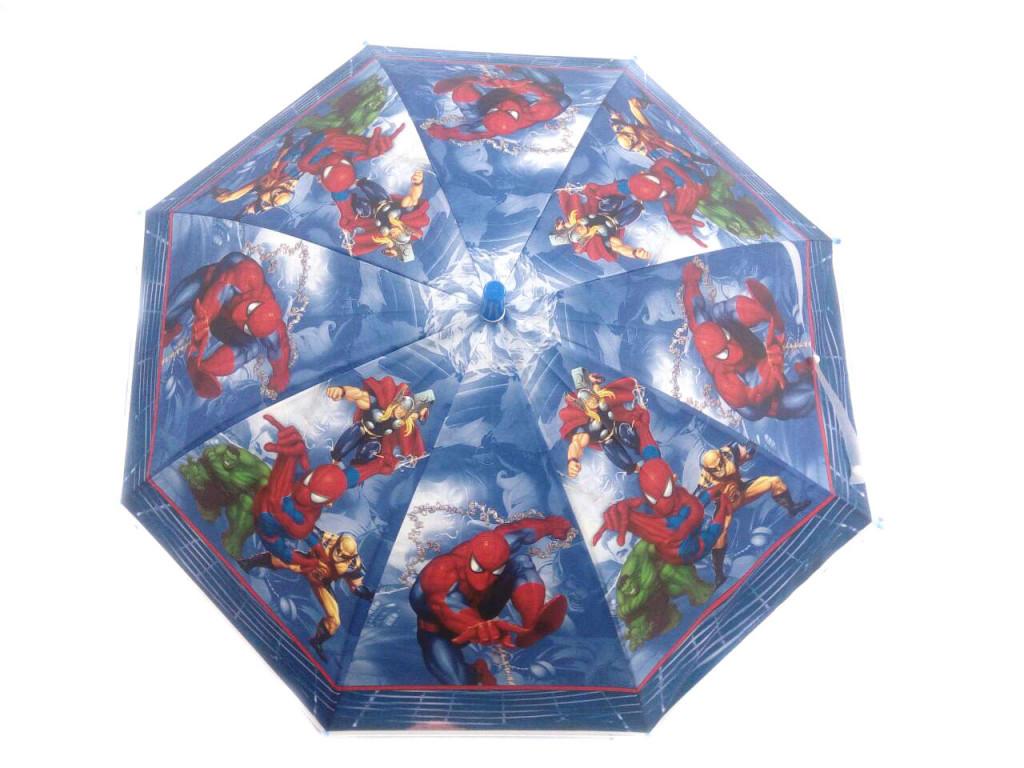 Детский виниловый зонтик с героями мультфильмов