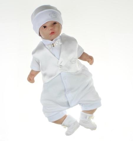 Нарядный костюм для мальчика на выписку из роддома Дени