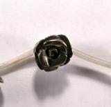 Бусина из пирита, фигурная, 12 мм (роза, гладкая)