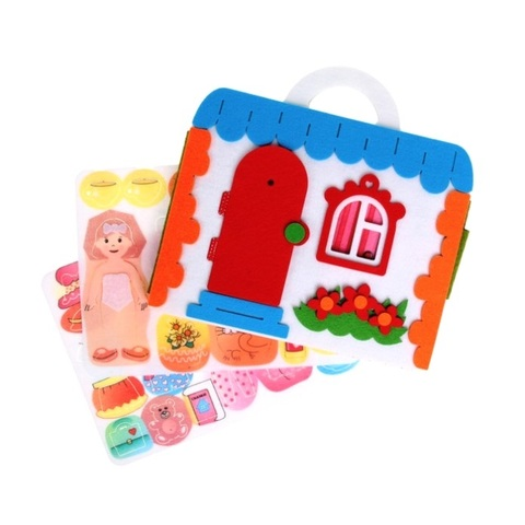 Сумка-игралка из фетра Кукольный домик, Smile decor, арт. Ф259