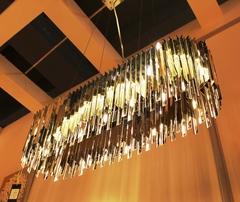 The Facet Lozenge Linear Suspension Light