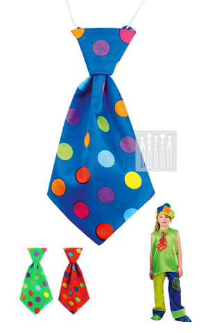 Фото Клоун Тяп - Ляп ( галстук ) ( в цветной горох ) рисунок Цирковые костюмы для детей и взрослых от Мастерской Ангел. Вы можете купить готовый или заказать костюм для цирка по индивидуальному дизайну.