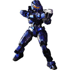 Halo Play Arts Kai Figure - Spartan Mark V Blue