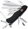 Нож Victorinox WorkChamp, 111 мм, 21 функция, черный