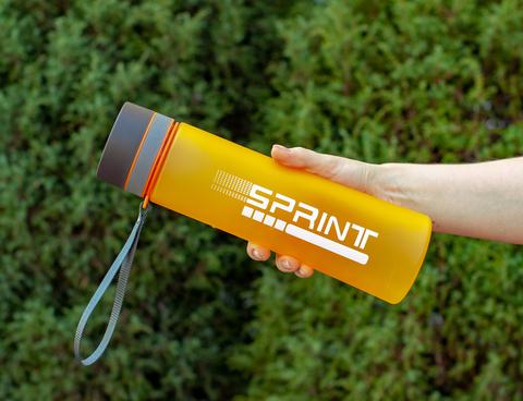 Бутылка POWCAN - 1000 мл. SPRINT матовая - Оранжевый