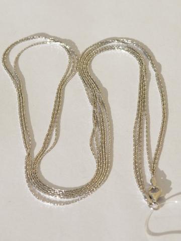 Колье из серебра,3 нити (цепочка серебряная).