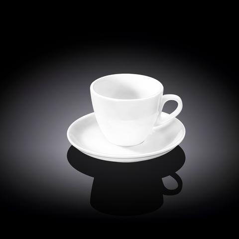 Набор кофейная чашка и блюдце Wilmax 75 мл (WL-993173)