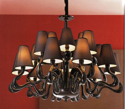 replica chandelier  Ode 1647  by Jacco Maris ( 18 shades )