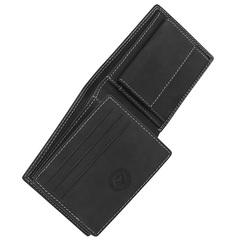 Портмоне WENGER Le Rubli, цвет черный, воловья кожа, 10,5×2,5×9 см