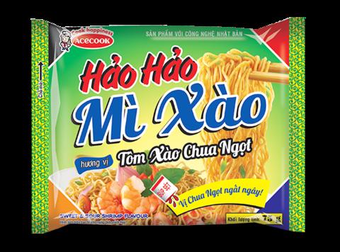 Сублимированная вьетнамская лапша Hao Hao, вкус креветки (сладко-кислая), 75 гр.