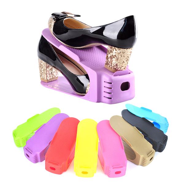 Double Shoe Racks выполнены из прочного безопасного пластика