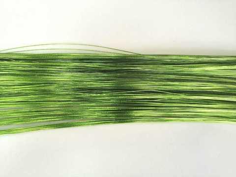 Проволока в обмотке, цвет зеленый, 1мм.
